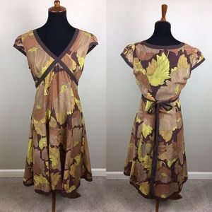 Maeve Anthropologie cap sleeve dress size 10